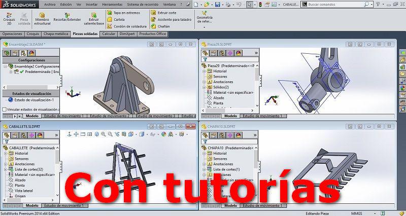 SolidWorks con tutorías